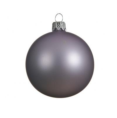 Kerstbal 7cm frozen lila mat (doos: 6 stuks)