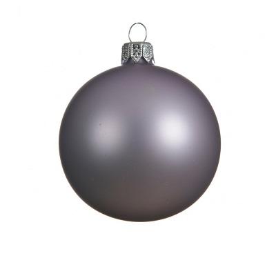 Kerstbal 8cm frozen lila mat (doos: 6 stuks)