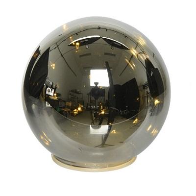 Led kerstbal zwart transparant mat d12cm (8 micro leds)