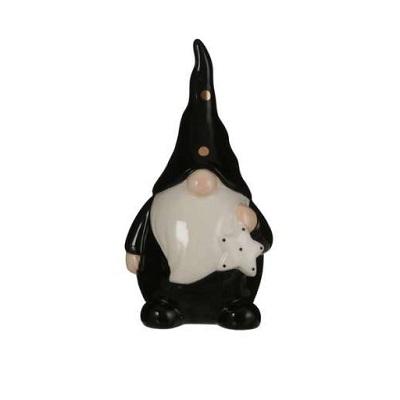 Figuur gnoom zwart 10. 5x21. 5cm