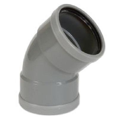 Pvc grijs bocht 45° 200mm 2xmof