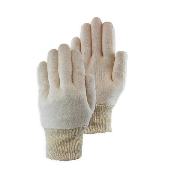 Handschoen katoen wit