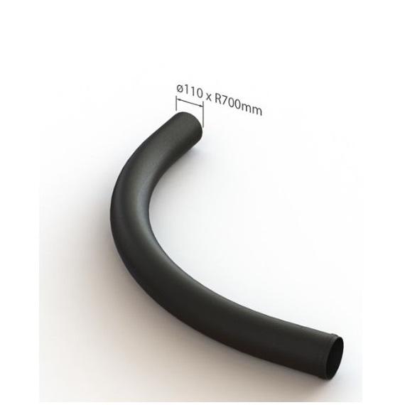 Straalbocht zwart 110mm