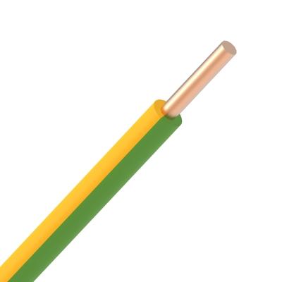 Draad vob 4mm² geel/groen massief (rol 100m)