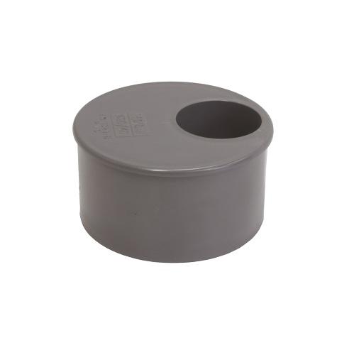 Pvc grijs verloopring excentrisch 110x32mm