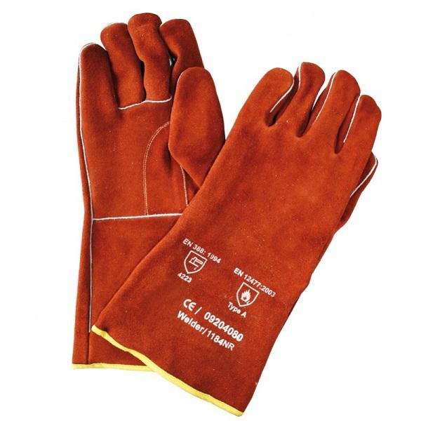 Lashandschoen rood 35cm