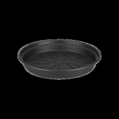 """green"" basic kweekpot onderschotel 22cm zwart h3. 1"