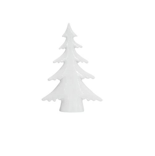 Kerstboom wit aardewerk 15,6cm