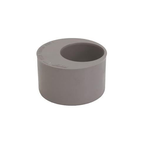 Pvc grijs verloopring excentrisch 75x32mm