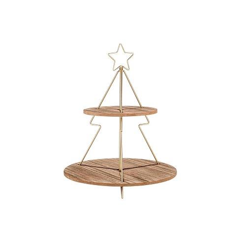 "Etagere ""star goud"" 37x37x46,5cm"