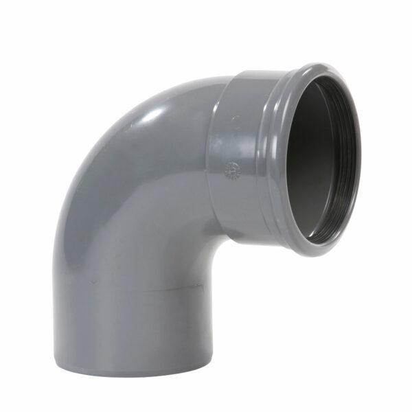 Pvc grijs bocht 87° 250mm 1xmof+spie