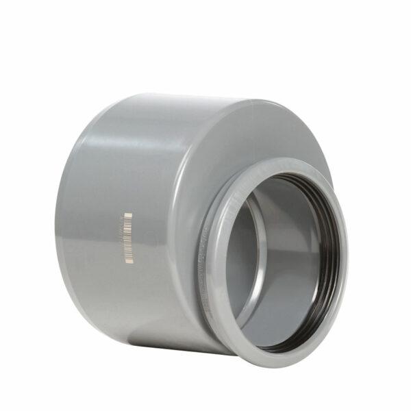 Pvc grijs verloopring excentrisch 200x125mm