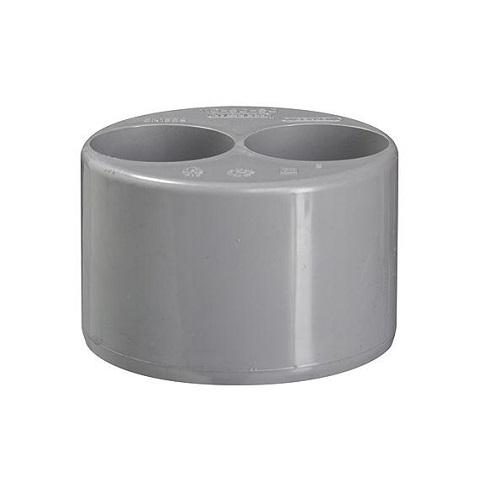 Pvc grijs verloopring excentrisch 110x32x32mm