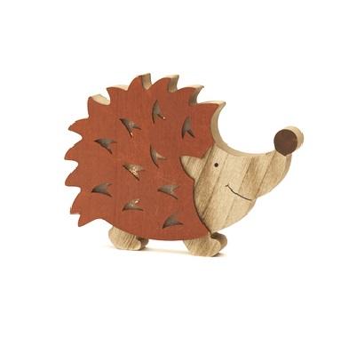 Egel hout met led 21cm
